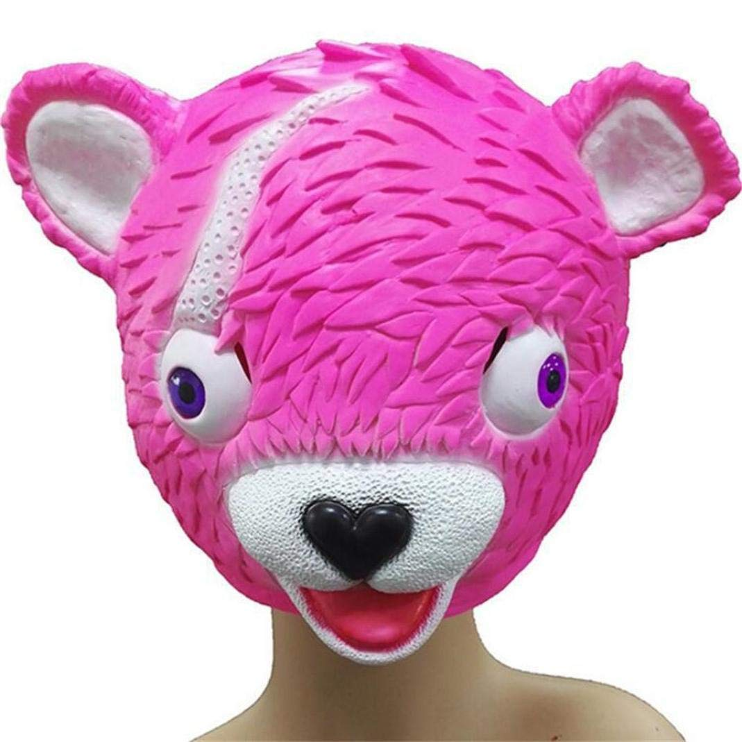 Vacally Cuddle Team Leader Cute Bear Mask Melting Face Adult Latex Costume Toy