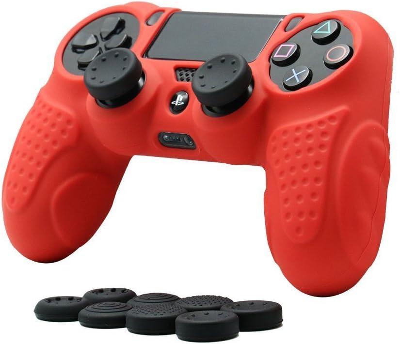 CHIN FAI PS4 Funda para Cubrir el Mando de PS4 con 4 Grips para Pulgares, Funda Antideslizante de Silicona, Carcasa Protectora para Mando de Sony PS4 / Slim/Pro: Amazon.es: Electrónica