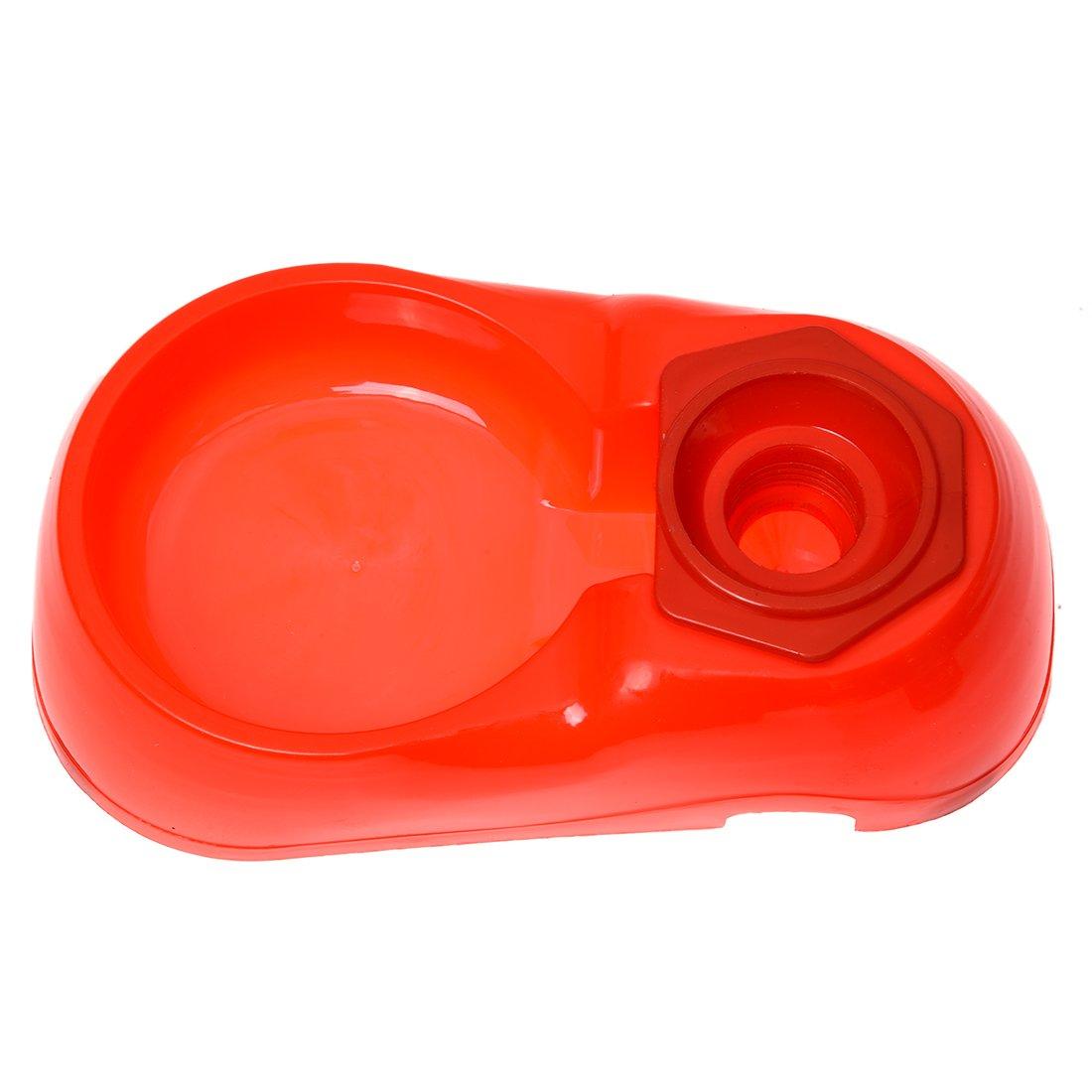 ACAMPTAR Topping Cane Gatto Distributore di Acqua Alimentatore Automatico Ciotola Piatto di Cibo Rosso