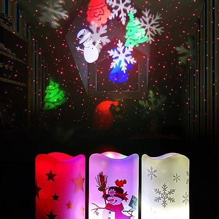 Navidad Luces de proyector Vela Creativa 15 cm de Alto LED ...