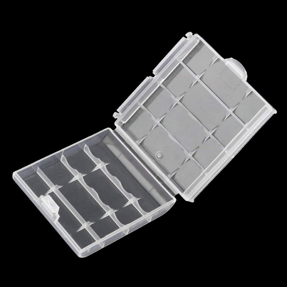 Dynamovolition Langlebige Kunststoffbatterie Aufbewahrungsbox Hartplastikh/ülle f/ür 4 St/ück AA AAA Batterien Tragbare Batteriehalter 6 cm /× 1,5 cm /× 6 cm