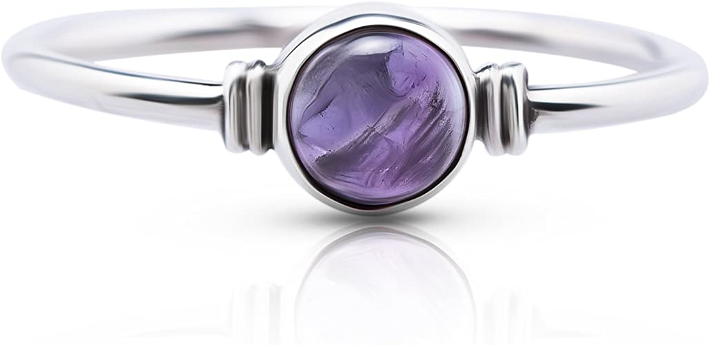 Hand Made Sterling Silver Designer Ring Featuring a Large Oval Rose Cut Amethyst.