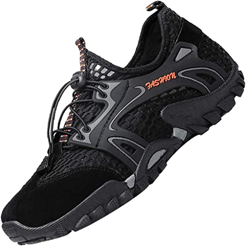 LOUECHY Mens Ponrea Mesh Hiking Shoes Breathable Water Shoes Trekking Sandals Outdoor Sneakers