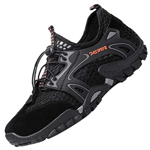 8189847b047 LOUECHY Men's Ponrea Mesh Hiking Shoes Breathable Water Shoes Trekking  Sandals Outdoor Sneakers