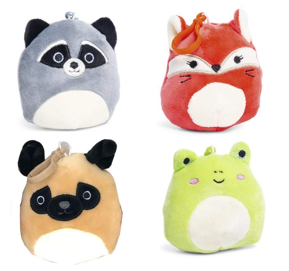 Amazon.com: Squishmallows Clip-Ons Backpack Keychain Clip On ...