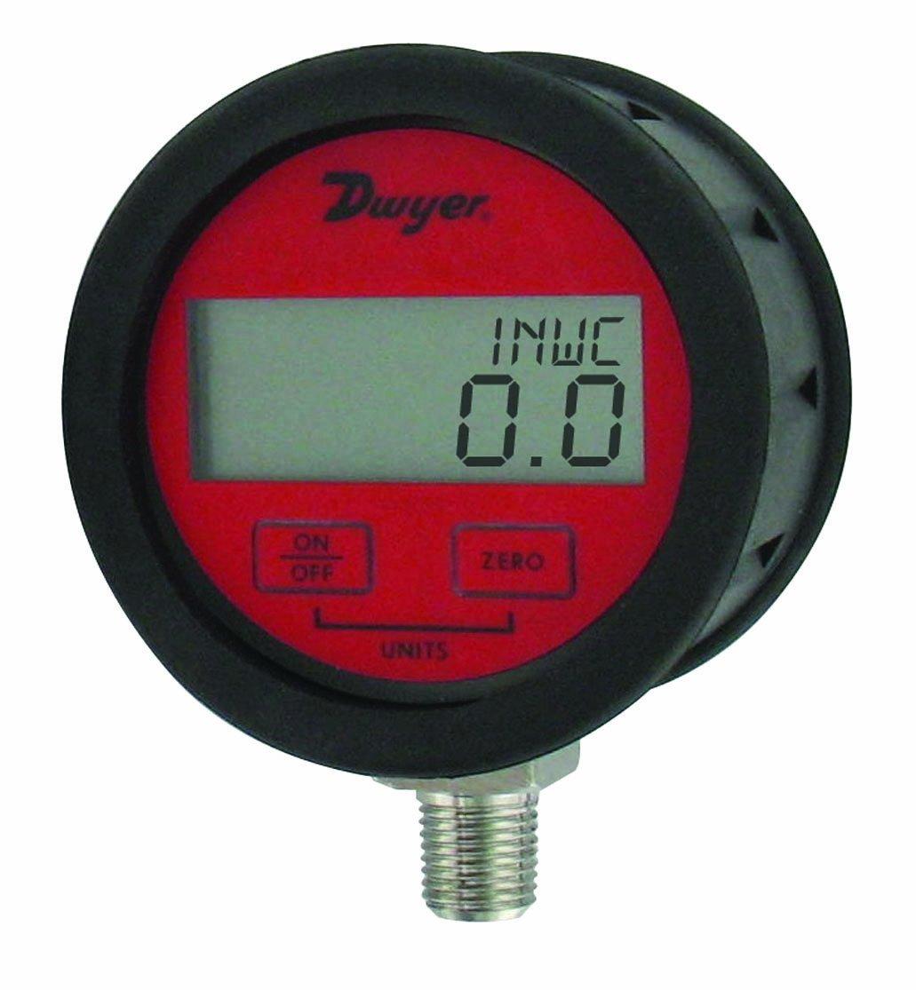 Dwyer DPGAB Series Digital Pressure Gauge with Boot, Dry Air, Range 0 to 200 psig by Dwyer  B009P8ZAIU
