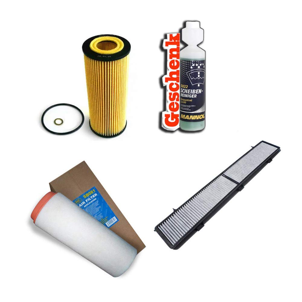 Inspektionspaket Filteristen Aktivkohlefilter SCT Luftfilter /Ölfilter Geschenk