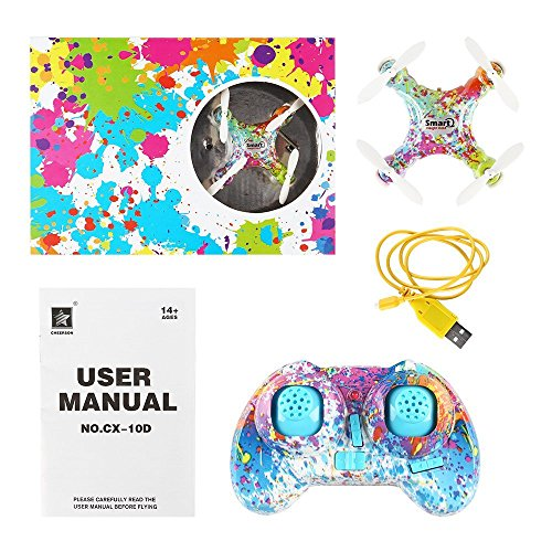 SainSmart Jr. Kids Drone Mini Drone for Kids and Beginner, Camouflage Color Pocket Drone Nano Quadcopter for kids with One Key Take Off/On, Four Brilliant Lights and Headless (Pocket Laser Light Show)