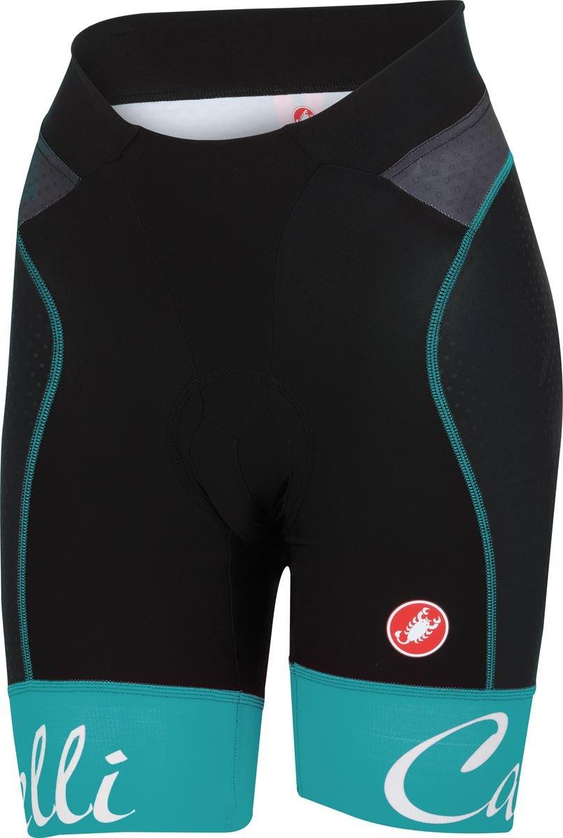 Castelli Free Aero Short - Women's Black/Atoll Blue Size XS
