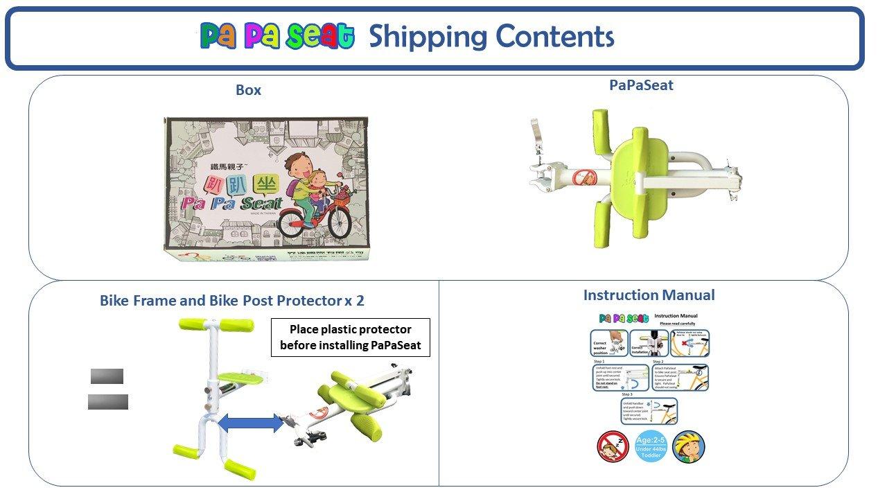 PaPaSeat Portable Light Weight Fast Install Child Bike Seat, Works with All City Bikes (USA, Canada, Paris, Milan, Warsaw, Tokyo, Taipei…) by PaPaSeat (Image #8)