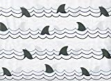 Authentic Kids Shark Fin Sheet Set, Twin Size