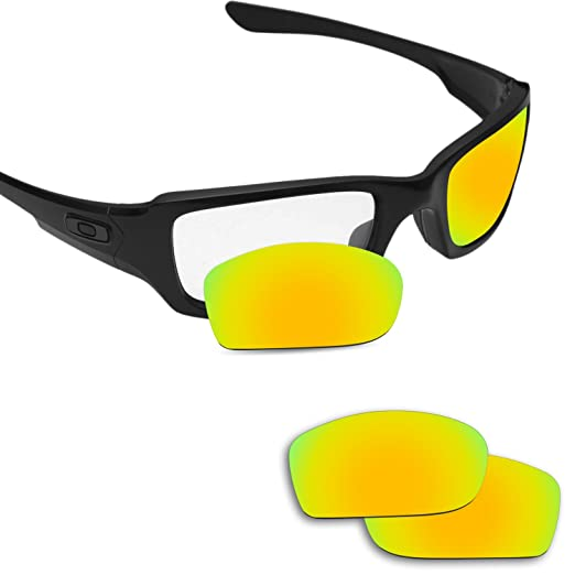 60d9ff7250 Image Unavailable. Image not available for. Color  Fiskr Anti-saltwater Replacement  Lenses for Oakley Fives Squared Sunglasses ...