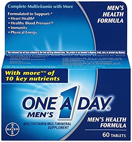Bayer One-A-Day Men's Multivitamin, 60-Count (Pack of 3)