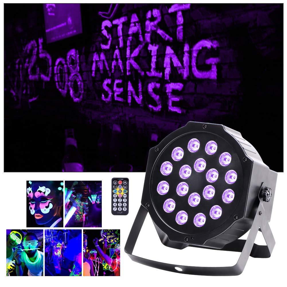 U`King 18 W UV Blacklight 18 LED Par illuminazione da palcoscenico con telecomando ideale per party matrimonio chiesa