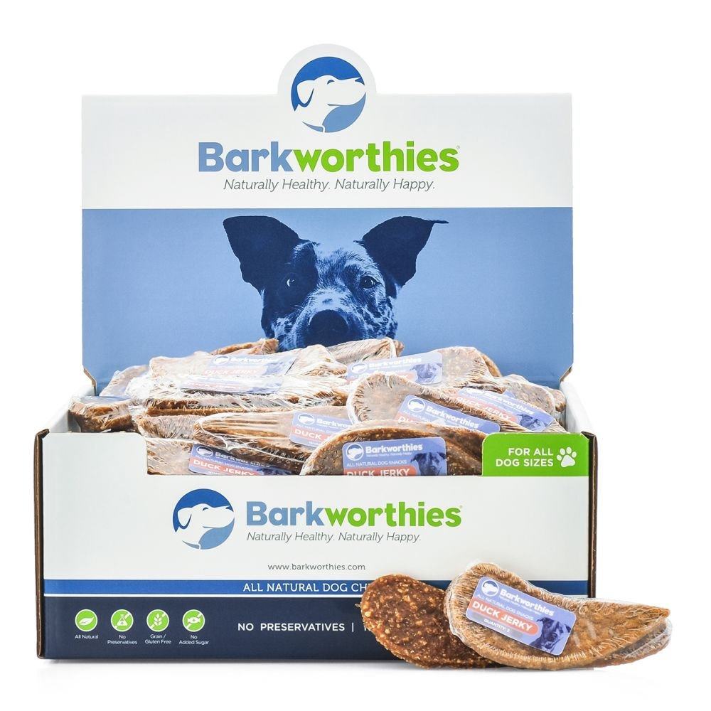 Barkworthies Duck Jerky Dog Treats Pack of 100
