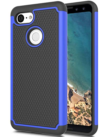 wholesale dealer 6663d cb116 Google Pixel 3 Case, Asmart Drop Protection Case Google Pixel 3 Armor  Defender Cover Dual Layer Protective Phone Case for Google Pixel 3 (2018)  (Blue)