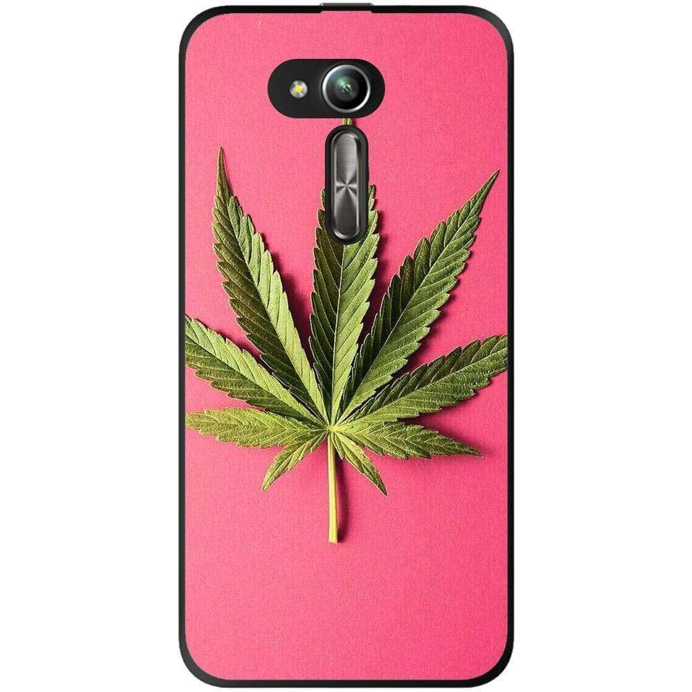 Amazon.com: Silicone Case Marijuana Leaf Pink Background ...