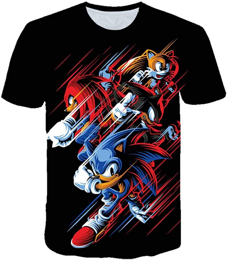Red Black Blue Sonic Youth T Shirt Girls Boys 3D Funny T-Shirts Costume Children Spring Clothing Kids Tees Top Baby T Shirts
