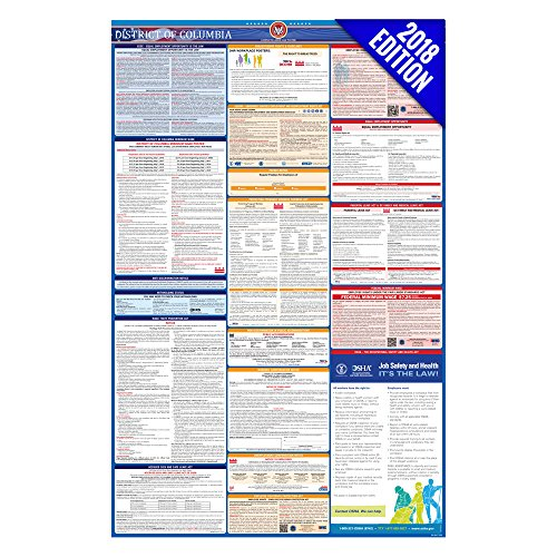 2018 District of Columbia Labor Law Poster – State & Federal Compliant – Laminated