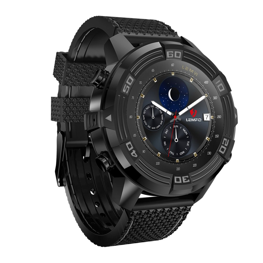 Amazon.com: LEM6 Smart Watch Android 5.1 1GB + 16GB Support ...