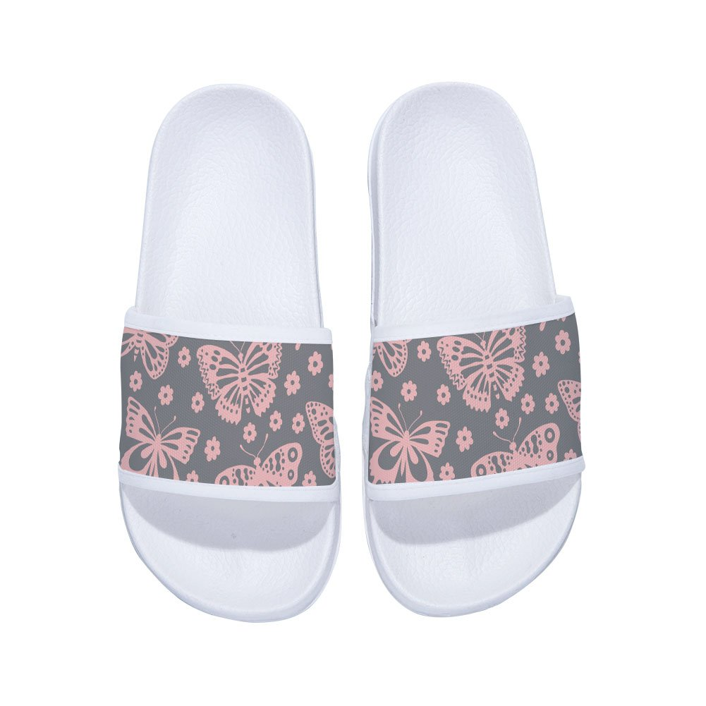Pink Slipper Baby Girls Cute Butterflies Summer Breathable Quick-Drying Non-Slip Slippers