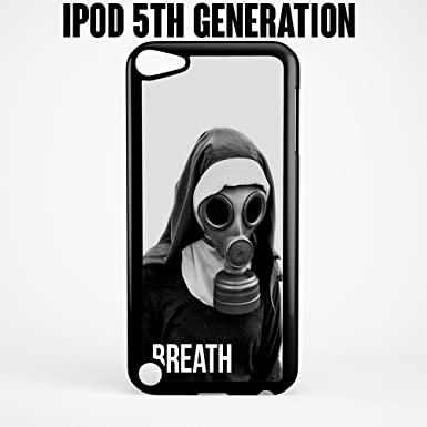 iPod caso aliento monja con máscara de gas para Apple iPod 5/5G plástico negro