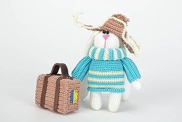 bambini fatta per mano Harehog Hare Toy valigia In con a Hat i zVpMSGqU