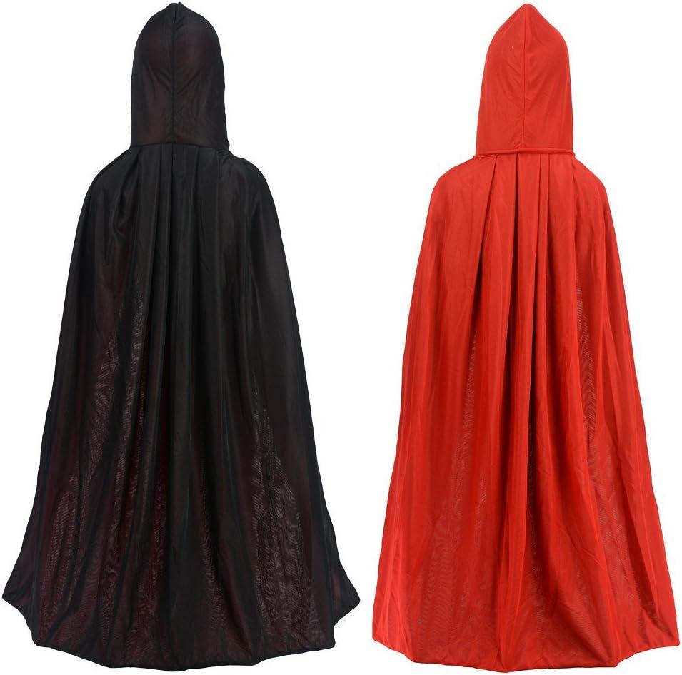 Kids Hooded Velvet Cloak Cape Robe Costume Witch School House Child Book Week