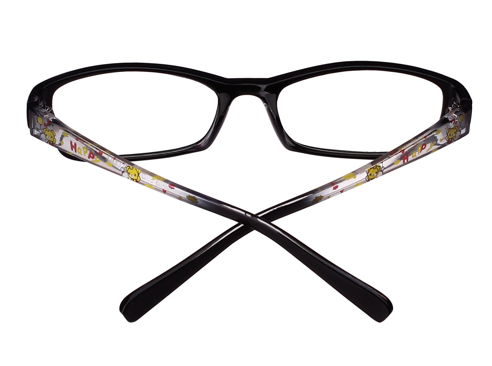 a2b876af83c Agstum Kids Classic Rectangle Optical Frame Girls Boys Glasses Clear Lens  (Black   Clear)   Departments   Clothing