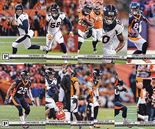 Denver Broncos 2018 Panini NFL Football Complete Mint 16 Card Team Set with Case Keenum, Von Miller and Rookie cards of Bradley Chubb, Courtland Sutton plus -