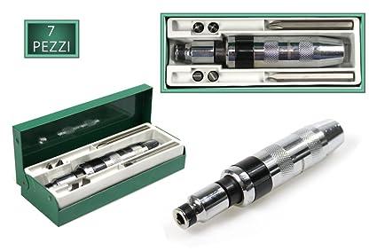 vetrineinrete® destornillador de impacto con 6 puntas destornillador ...