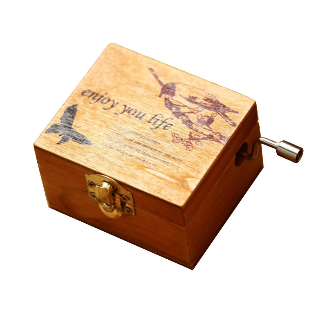 ACCOCO Personalizable Wood Musical Box Music Box Melody Carrying You from Castle in The Sky (The Bird) by ACCOCO (Image #1)