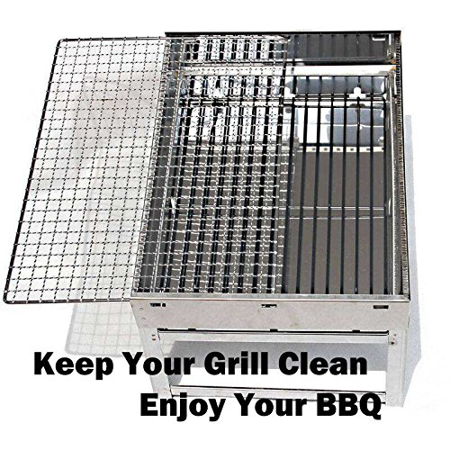 Grill Brush Bristle Free - Grill Brush - 18'' Rust Proof Triple Stainless Steel BBQ Grill Cleaner for Steel, Porcelain, Iron,Ceramic Grates by Alago (Image #5)