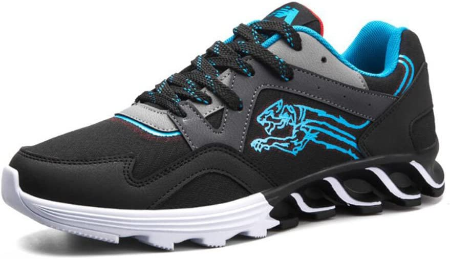 Hombre/Mujer Space Leather + Mesh Sneakers Primavera/Otoño Comfort/Breathable Sports Shoes Amantes Running Shoes/Riding Shoes (Color : Azul, tamaño : 42): Amazon.es: Jardín