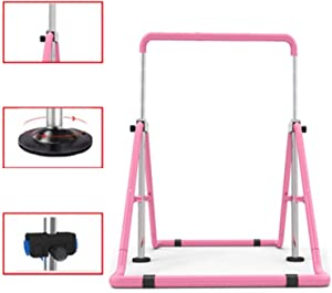 Gymnastics Bar, Kids Gymnastics Horizontal Bars Expandable Stable Triangle Structure Thickened Steel Pipe Load Bearing 200kg Folding Training Monkey Bars for Home Training Gymnastics GUORRUI