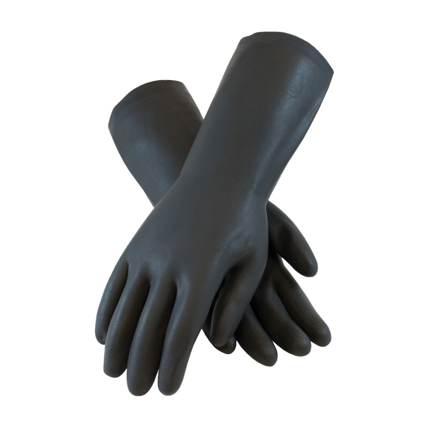 PIP Assurance 28 Mil Flock Lined Neoprene Chemical Gloves with Raised Diamond Grip Size S-XL Small