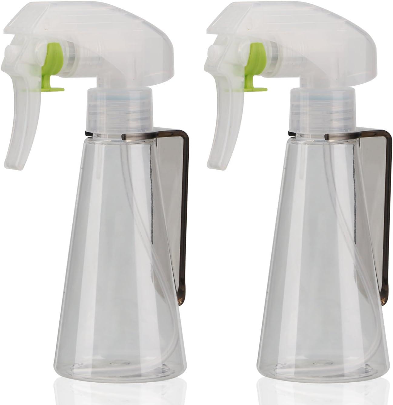 Segbeauty Plant Mister Spray Bottle, 2pcs Fine Mist Spray Bottle for Cleaning Solution Gardening Trigger Water Empty Sprayer 3.4oz 100ml(Clear)