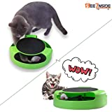 See Inside || Cat Interactive Toys with a Running Mice and a Scratching Pad,Catch The Mouse,Cat Scratcher Catnip Toy