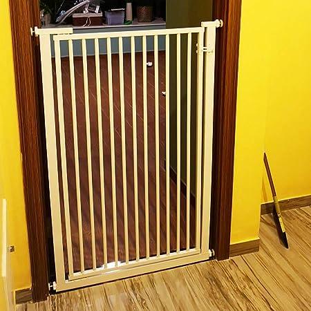 Puertas de bebé 80cm de Altura Puerta for Mascotas for Puerta Pasillo, Presión Fit Seguridad cifrada bebé Escalera Puertas con Paseo a través de la Puerta, Ancho 55-120cm (Size : W72-74cm): Amazon.es: