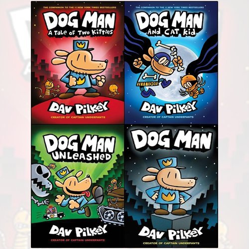 Dog Man Collection Dav Pilkey Books Set   A Tale Of Two Kitties Hardcover   Dog Man  Unleashed  Dog Man And Cat Kid Hardcover