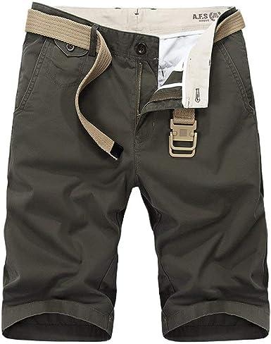 Hombres Algodón De para Hombres Pantalón Corto Verano De Mode De Marca Playa Bermudas Pantalones Cortos Pantalones Cortos Sin Confort Sólido Moda Juvenil para Niños: Amazon.es: Ropa y accesorios