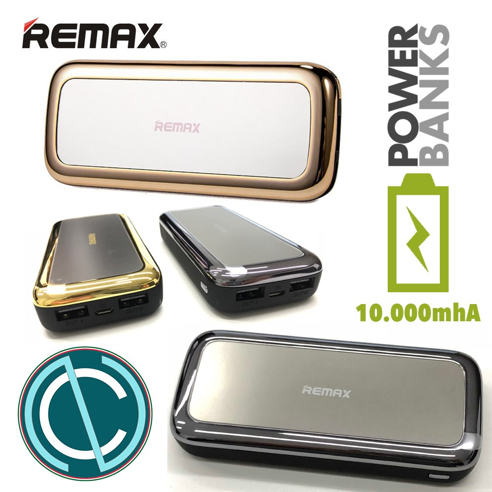 Remax Mirror Series 10000 mAh rpp-36 battery rechargeable portable power  bank Smartphone Style Mirror Bag Grey Black Woman Gift Idea Fashion Fashion  ... 04d6e1c4d
