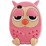 SKS Distribution® rose vif Silicone nocturnes Heure du coucher somnolent hibou OWL Etui Coque Housse Pour Apple Iphone 5 / 5S