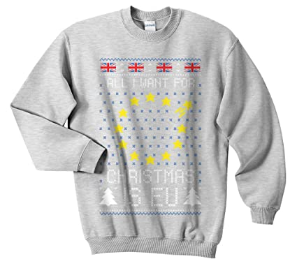 7dc0f47325 Sanfran - EU Christmas Top Xmas Ugly Brexit Brexmas All I Want Jumper  Sweater: Amazon.co.uk: Clothing