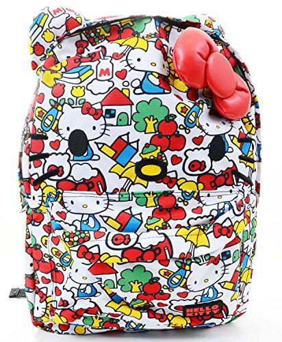 Hello Kitty Classic Vintage Print All Over Face Backpack ...