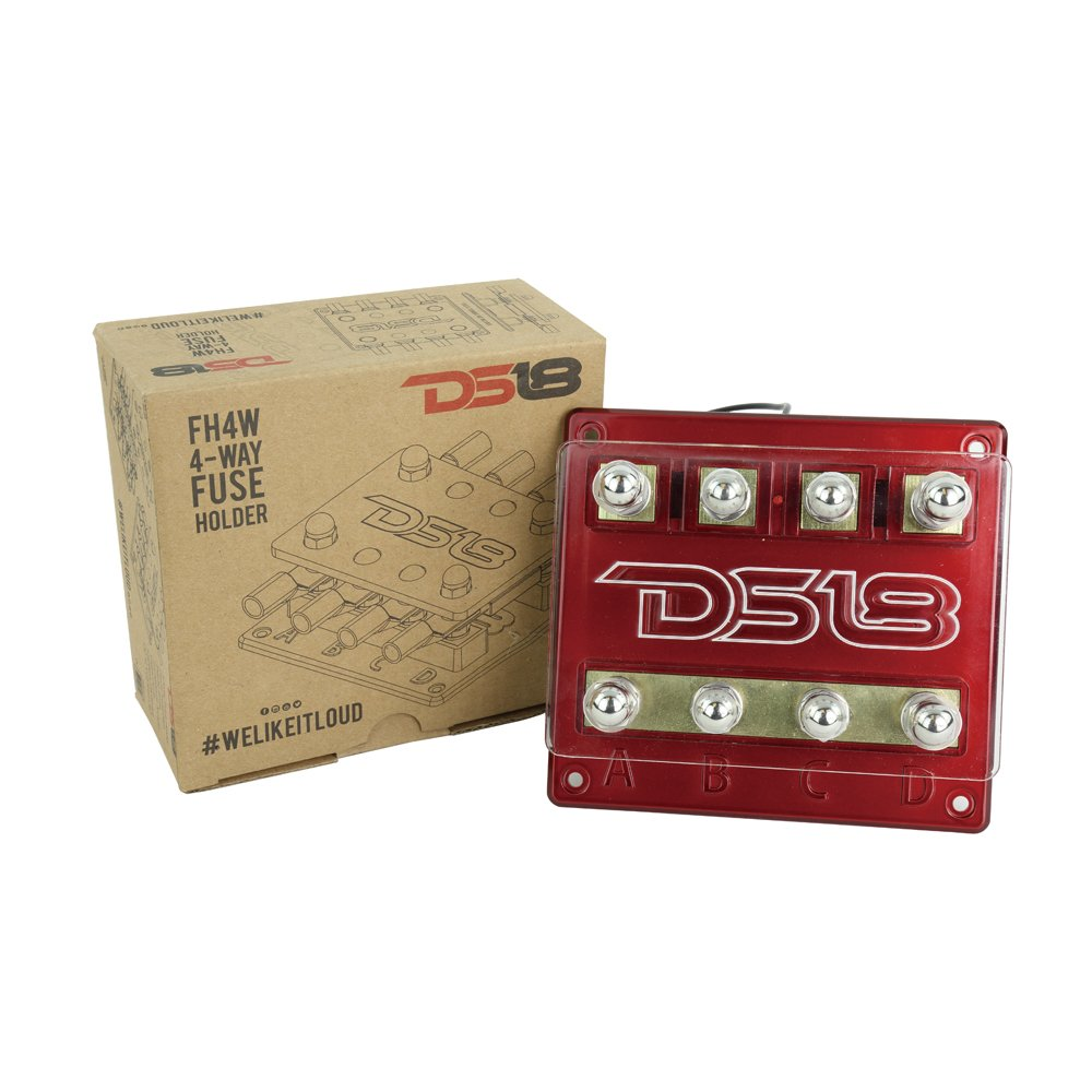 Amazon.com: DS18 FH4W 4-Way Fuse Holder with 12 Volt Red LED power  Indicator: Cell Phones & Accessories