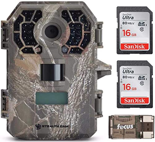 Stealth Cam G42 No-Glo Trail Game Camera with 16GB Card and Focus Reader Bundle 4 Items