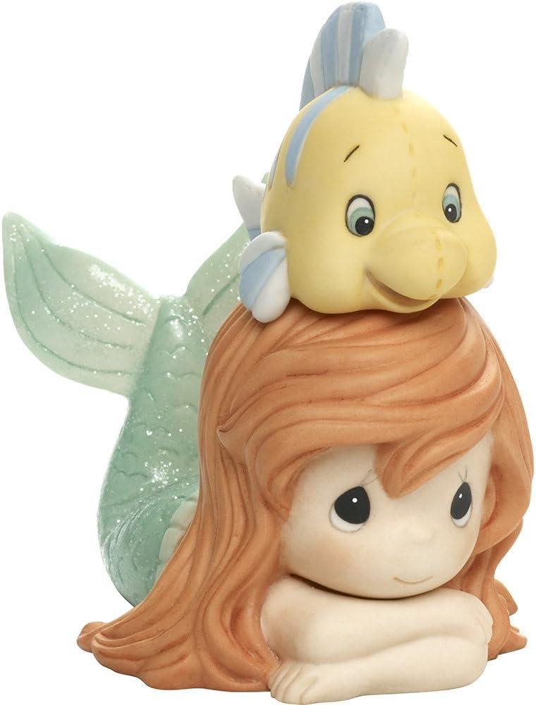 Precious Moments, Disney Showcase The Little Mermaid, Ariel Figurine, Life Is Better With A Good Friend, Porcelain, #171094