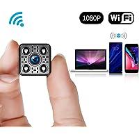 FREDI 【新版】超小型WiFi隠しカメラ 1080P超高画質防犯カメラ監視カメラ WiFi対応スパイカメラ 4分割画面ワイヤレス小型カメラ 小型隠しビデオカメラ 暗視録画機能付き 日本語取扱 動体検知 iPhone/Android/Win/iPad 遠隔監視・操作