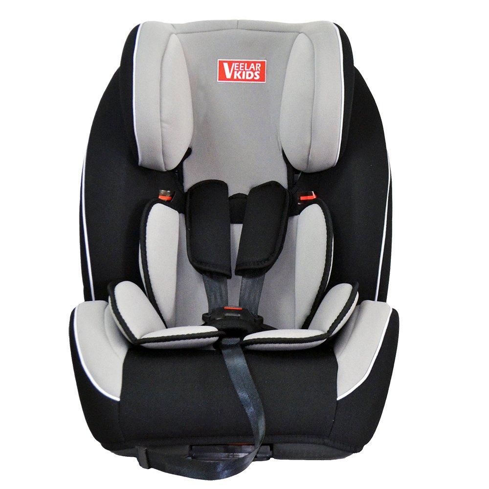 VEELAR KIDS Kinderautositz Autokindersitz Autositz Kindersitz Gruppe 1+2+3 grau/schwarz TIGGO
